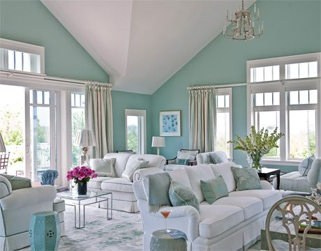 Decorate with every color the beach has to offer...